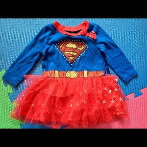 12 month baby girl Superman costume with cape